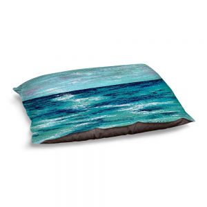 Decorative Dog Pet Beds | Sue Allemand - Where my Mind Goes | Colorful abstract ocean