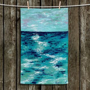 Unique Bathroom Towels | Sue Allemand - Where my Mind Goes | Colorful abstract ocean