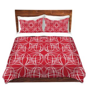 Artistic Duvet Covers and Shams Bedding | Sue Brown - Coco Lime Red