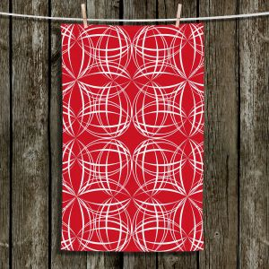 Unique Hanging Tea Towels | Sue Brown - Coco Lime Red | Patterns