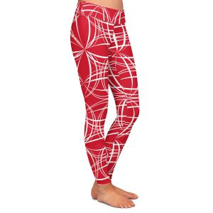 Casual Comfortable Leggings | Sue Brown - Coco Lime Red