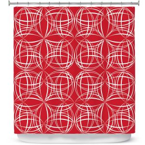 Premium Shower Curtains | Sue Brown - Coco Lime Red
