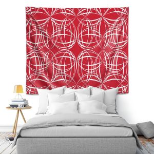 Artistic Wall Tapestry | Sue Brown - Coco Lime Red