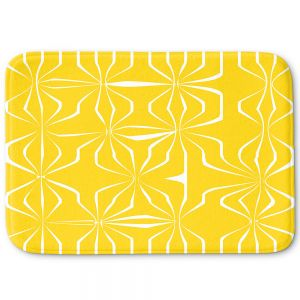Decorative Bath Mat Large from DiaNoche Designs by Sue Brown - Connect Yellow