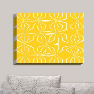 Decorative Canvas Wall Art | Sue Brown - Connect Yellow