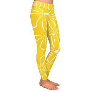 Casual Comfortable Leggings | Sue Brown - Connect Yellow