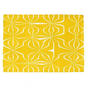 Decorative Kitchen Placemats 18x13 from DiaNoche Designs by Sue Brown - Connect Yellow