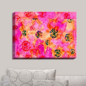 Decorative Canvas Wall Art | Sue Brown - Crystal Floral Cry