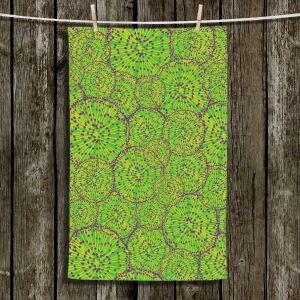 Unique Bathroom Towels | Sue Brown - Cycloseris Green
