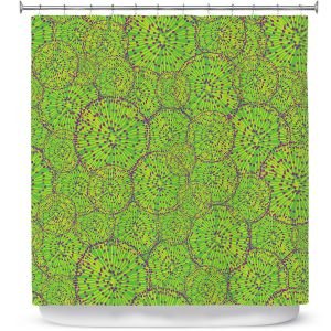 Premium Shower Curtains | Sue Brown - Cycloseris Green