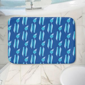 Decorative Bathroom Mats | Sue Brown - Gervay Garden 1 | Pattern flower repetition abstract