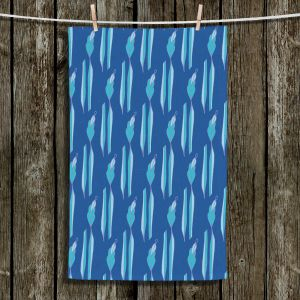 Unique Hanging Tea Towels | Sue Brown - Gervay Garden 1 | Pattern flower repetition abstract
