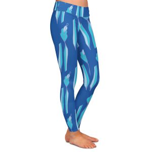 Casual Comfortable Leggings   Sue Brown - Gervay Garden 1   Pattern flower repetition abstract