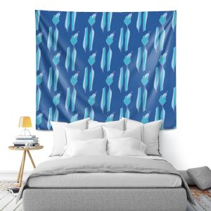 Artistic Wall Tapestry | Sue Brown - Gervay Garden 1 | Pattern flower repetition abstract