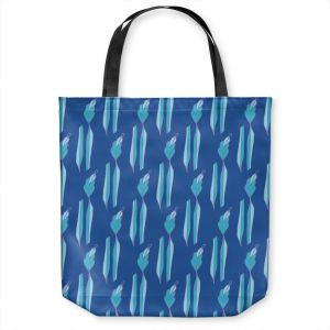 Unique Shoulder Bag Tote Bags | Sue Brown - Gervay Garden 1 | Pattern flower repetition abstract