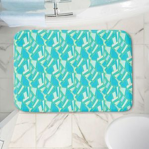 Decorative Bathroom Mats | Sue Brown - Gervay Garden 10 | Pattern flower repetition abstract