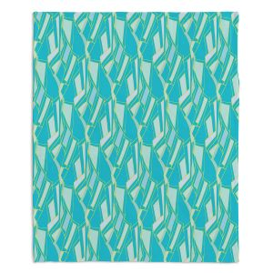 Artistic Sherpa Pile Blankets | Sue Brown - Gervay Garden 10 | Pattern flower repetition abstract