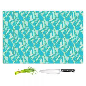 Artistic Kitchen Bar Cutting Boards | Sue Brown - Gervay Garden 10 | Pattern flower repetition abstract