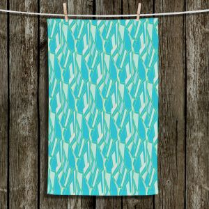 Unique Bathroom Towels | Sue Brown - Gervay Garden 10 | Pattern flower repetition abstract