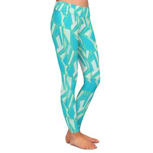 Casual Comfortable Leggings | Sue Brown - Gervay Garden 10 | Pattern flower repetition abstract