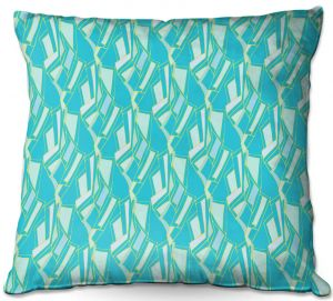 Decorative Outdoor Patio Pillow Cushion | Sue Brown - Gervay Garden 10 | Pattern flower repetition abstract