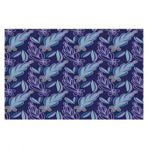 Decorative Floor Covering Mats | Sue Brown - Gervay Garden 11 | Pattern flower repetition abstract