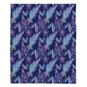 Decorative Fleece Throw Blankets | Sue Brown - Gervay Garden 11 | Pattern flower repetition abstract