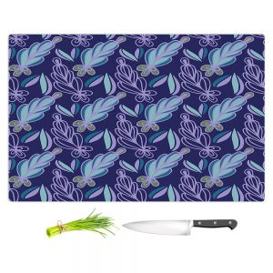 Artistic Kitchen Bar Cutting Boards | Sue Brown - Gervay Garden 11 | Pattern flower repetition abstract