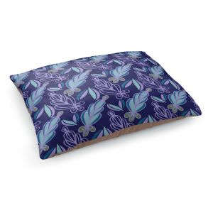 Decorative Dog Pet Beds   Sue Brown - Gervay Garden 11   Pattern flower repetition abstract