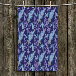 Unique Hanging Tea Towels | Sue Brown - Gervay Garden 11 | Pattern flower repetition abstract