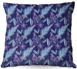 Throw Pillows Decorative Artistic | Sue Brown - Gervay Garden 11 | Pattern flower repetition abstract
