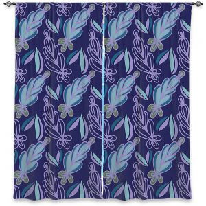Decorative Window Treatments | Sue Brown - Gervay Garden 11 | Pattern flower repetition abstract