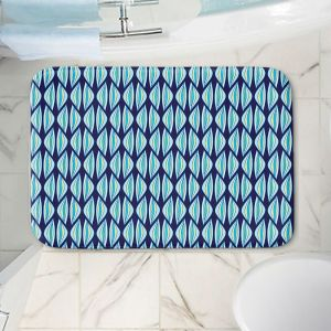 Decorative Bathroom Mats | Sue Brown - Gervay Garden 2 | Pattern flower repetition abstract
