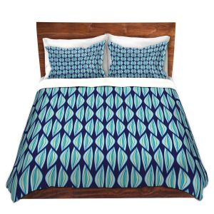 Artistic Duvet Covers and Shams Bedding | Sue Brown - Gervay Garden 2 | Pattern flower repetition abstract