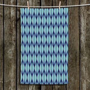 Unique Hanging Tea Towels | Sue Brown - Gervay Garden 2 | Pattern flower repetition abstract