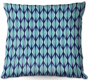 Decorative Outdoor Patio Pillow Cushion   Sue Brown - Gervay Garden 2   Pattern flower repetition abstract