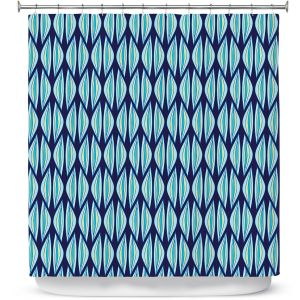 Premium Shower Curtains | Sue Brown - Gervay Garden 2 | Pattern flower repetition abstract