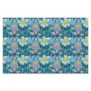 Decorative Floor Covering Mats | Sue Brown - Gervay Garden 3 | floral flower pattern