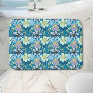 Decorative Bathroom Mats | Sue Brown - Gervay Garden 3 | floral flower pattern
