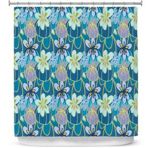 Premium Shower Curtains | Sue Brown - Gervay Garden 3 | floral flower pattern