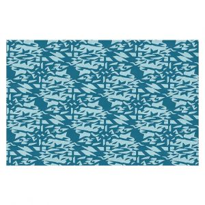 Decorative Floor Covering Mats | Sue Brown - Gervay Garden 6 | Pattern flower repetition abstract