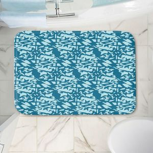 Decorative Bathroom Mats | Sue Brown - Gervay Garden 6 | Pattern flower repetition abstract