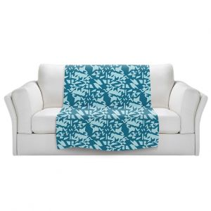 Artistic Sherpa Pile Blankets | Sue Brown - Gervay Garden 6 | Pattern flower repetition abstract