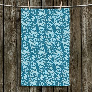 Unique Bathroom Towels | Sue Brown - Gervay Garden 6 | Pattern flower repetition abstract