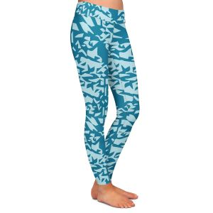 Casual Comfortable Leggings | Sue Brown - Gervay Garden 6 | Pattern flower repetition abstract