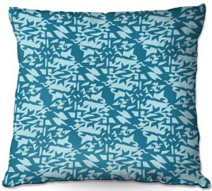 Throw Pillows Decorative Artistic | Sue Brown - Gervay Garden 6 | Pattern flower repetition abstract