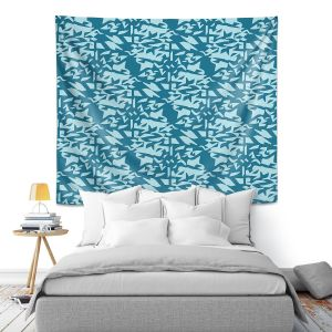 Artistic Wall Tapestry | Sue Brown - Gervay Garden 6 | Pattern flower repetition abstract