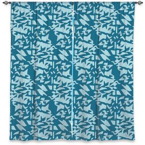 Decorative Window Treatments | Sue Brown - Gervay Garden 6 | Pattern flower repetition abstract
