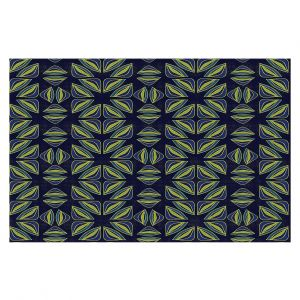 Decorative Floor Covering Mats | Sue Brown - Gervay Garden 7 | Pattern flower repetition abstract