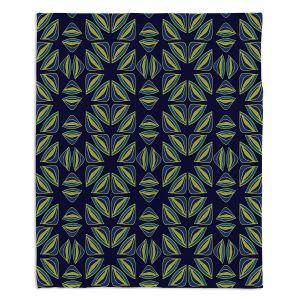 Decorative Fleece Throw Blankets | Sue Brown - Gervay Garden 7 | Pattern flower repetition abstract